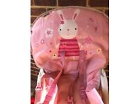 Baby bjorn bouncer, high chair, mothercare cotbed, Baby cradle and walker
