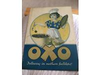 Oxo metal sign old vintage Robert opie