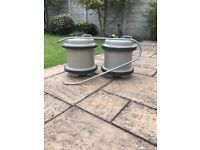 Aquaroll 2x 30ltr water containers