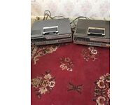2 Betamax video recorders one in only plays one plays and records