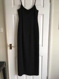 Full length black evening dress. Size 12