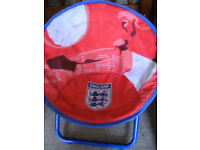 Child's England Themed Folding Deck Chair