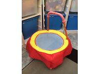 Baby Active Toddlers Trampoline Bouncer Mini Kids Garden Toy HandleBar Round Safe HARDLY USE