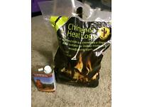 Chimenea heat logs and sealant