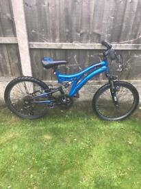 """MUDDYFOX 6 SPEED MOUNTAIN BIKE, 20"""" WHEELS, DUAL SUSPENSION, FULLY WORKING AND REALLY GOOD CONDITION"""