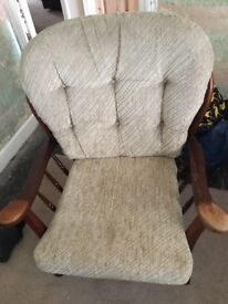 Ercol wood armchair
