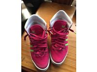 Girls Adidas shoes / trainers size 4
