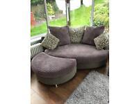 DFS Grey 2 seater cuddler sofa