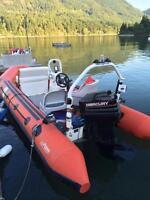 Polarais rigid bottom pontoon 17 footer