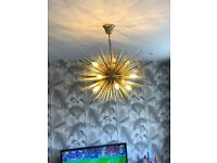 Gold light fitting for sale
