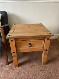 Wood side table for sale