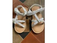 Next glitter sandals infant size 8