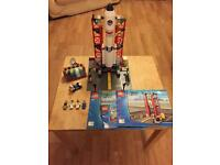 Lego, space rocket and launcher, minifigures, instructions included