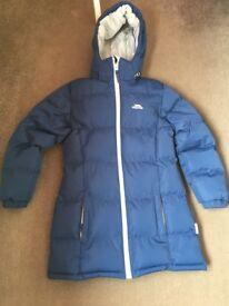 Girls long length trespass jacket age 9-10 years