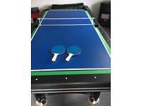 Snooker, Slide Hockey, Table Tennis 3in1 table