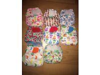 Totsbots teenyfits newborn washable reusable nappies