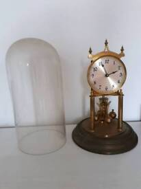 Glass-domed clock (circa early 20th century)