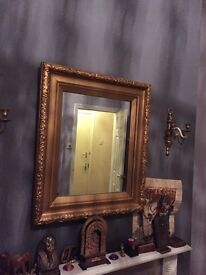 Gold mirror with nice pattern