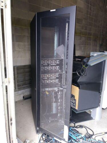 42U Hitachi Data Systems Server Rack Cabinet w/ sides & doors, rear door w/o scr