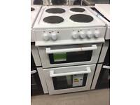 BRAND NEW NEWWORLD 50CM WHITE ELECTRIC COOKER WITH OVEN & GRILL