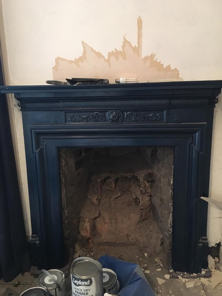 Cast iron fireplace £120