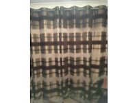 2 pairs of Eyelet Curtains. 90x90 and 66x90 inches