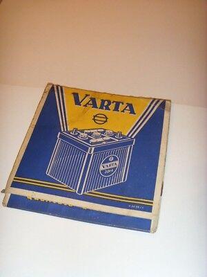 Varta- WerbeStreichhölzer