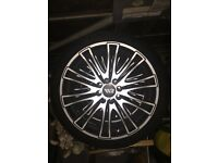 Four x 17 inch Alloy wheels with tyres - £200