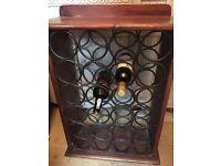 Wrought iron - Antique Wine rack - Holds 24 bottles