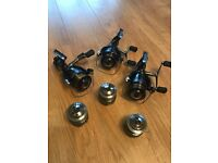 Shimano XT RB Carp Baitrunner Fishing Reels x 3 with spare spools