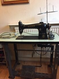 Singer Sewing Machine. Industrial machine. Sold as seen. Collect only.
