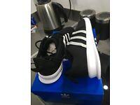 Adidas LOOP RACER - Trainers - core black/white sz 8.5 BNIB