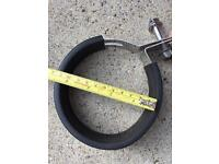 Motorcycle exhaust clamps