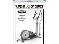 York Fitness X730 programmable cross trainer