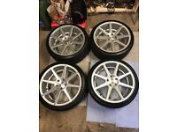 Inspiri alloys wheels isr8 8.5 x 19 5x12