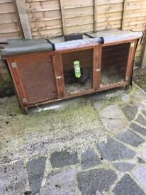 Outdoor hutch and cover