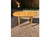 Table & 2 chairs - Beech extendable dining table and 2 chairs