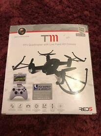T111 fpv quadcopter with live feed hd camera drone remote control rc