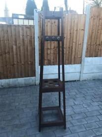 Vintage wooden coatstand