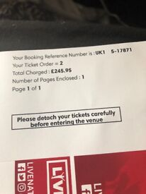 LOWER THAN COST PRICE JAY-Z&BEYONCE BLOCK 206 FRI 15th JUNE LONDON STADIUM 2x SEATED TICKETS