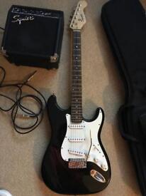 Fender Squier Electric Guitar & Amp