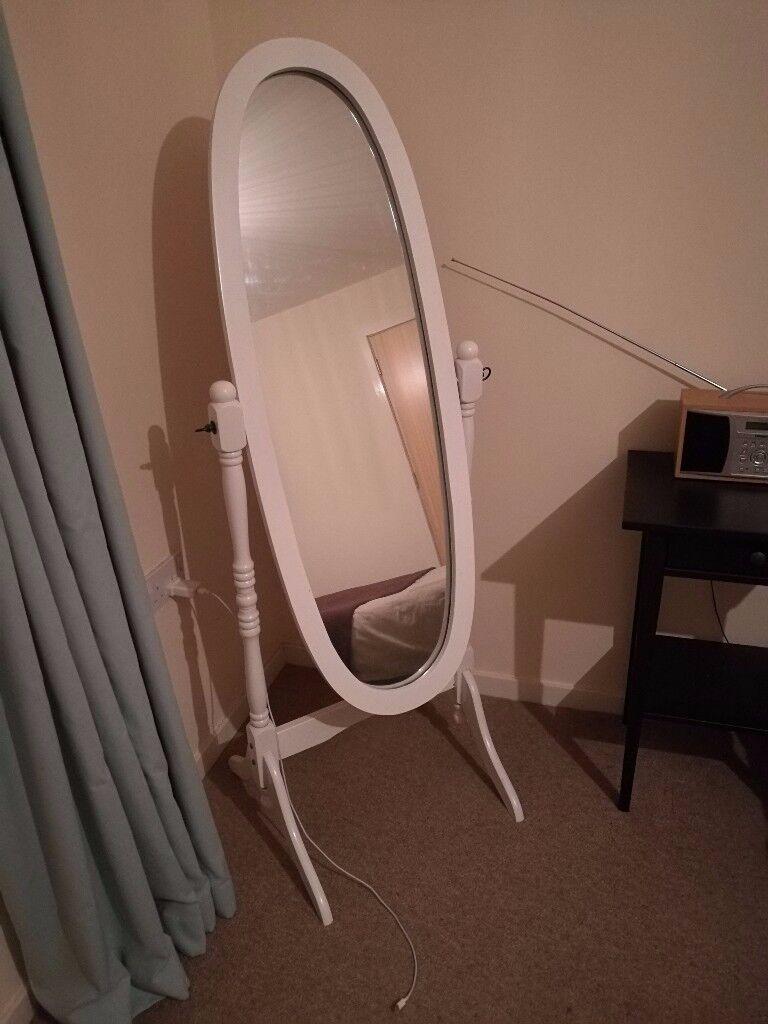 Cheval Floor Mirror White