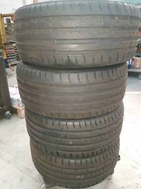 Set of four 245/45r18 100y Tyres