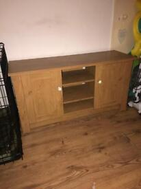 """Tv unit, holds up to 50"""" tv 3 shelves two cupboards with a shelf in each diamanté handles £50 Ono"""