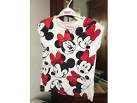 Disney land Paris Minnie Mouse top age 8