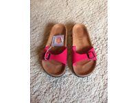 For Sale - size 6 pink Birkenstock sandels