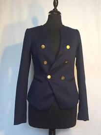 H&M Blue Blazer With Gold Buttons