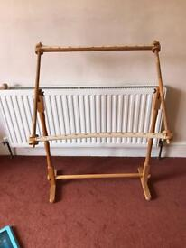 Freestanding tapestry/ embroidery frame