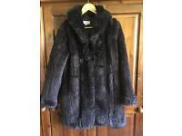 Fur coat coat uk size 14-16