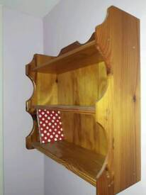 Pine shelving unit.